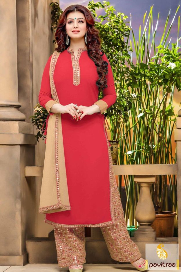 Reflect your personality in this beautiful ayesha takia red plazo ...