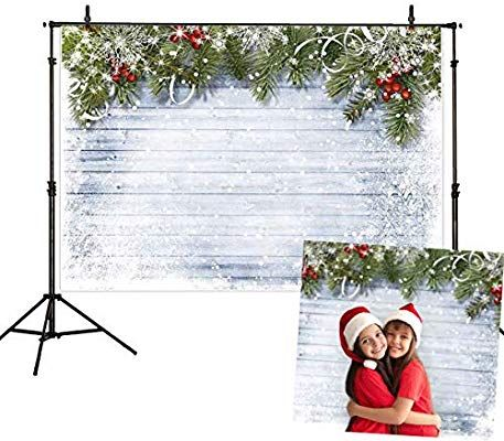 Amazon.com : Allenjoy 7x5ft White Christmas Photography Backdrops for Photographer Wooden Wall White Snow Backdrop Photo Background : Camera & Photo #backdropsforphotographs