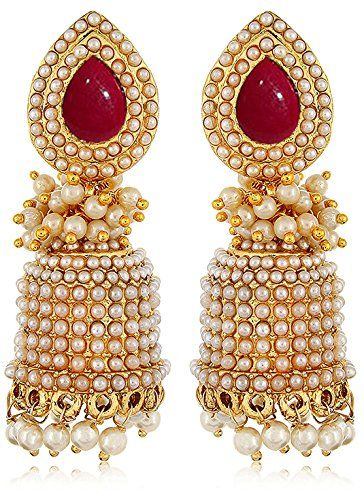 c22863000746b YouBella Jewellery Traditional Gold Plated Fancy Party Wear Jhumka ...