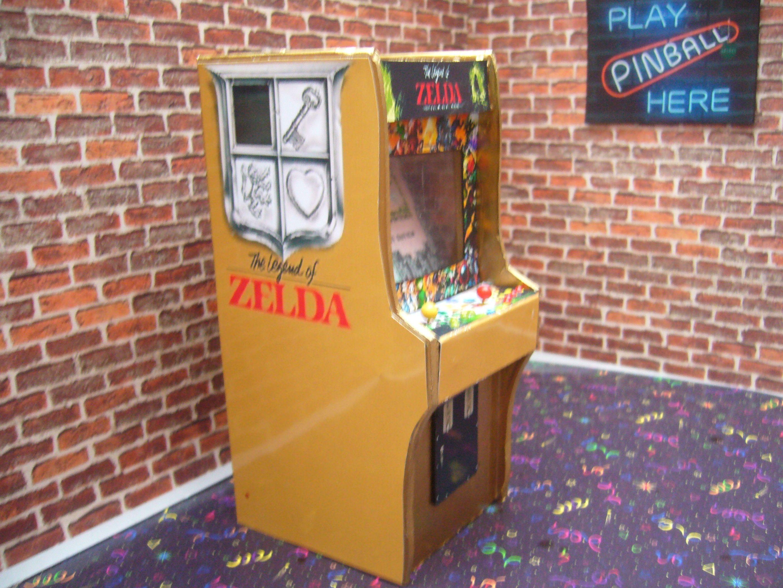LEGEND OF ZELDA Arcade ~ Miniature Arcade Machine Model - 1/12th ...