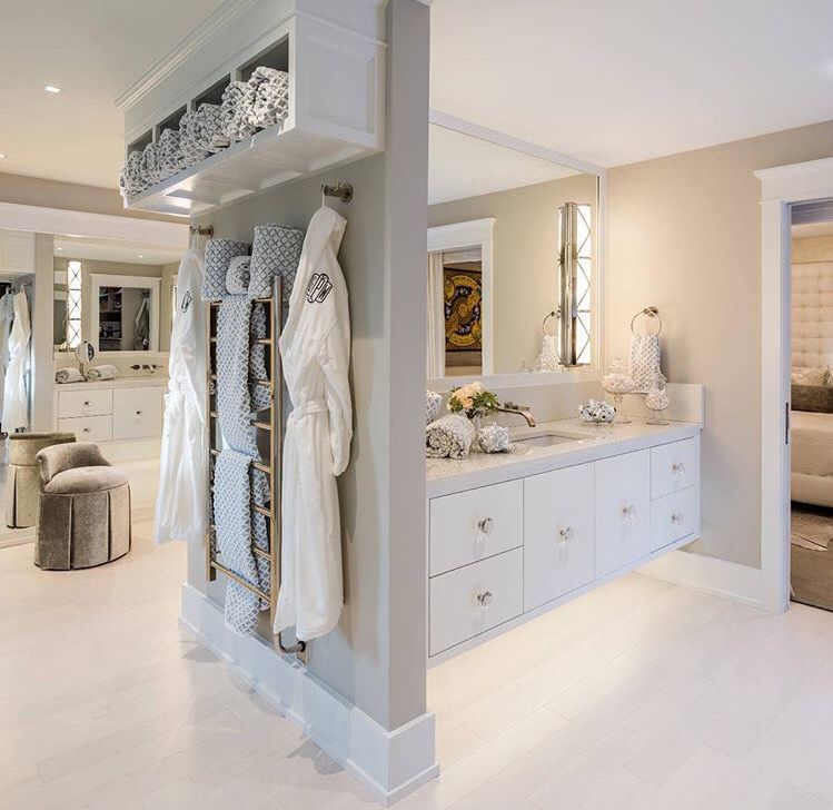 open plan bedroomensuitedressing room 😍  open plan