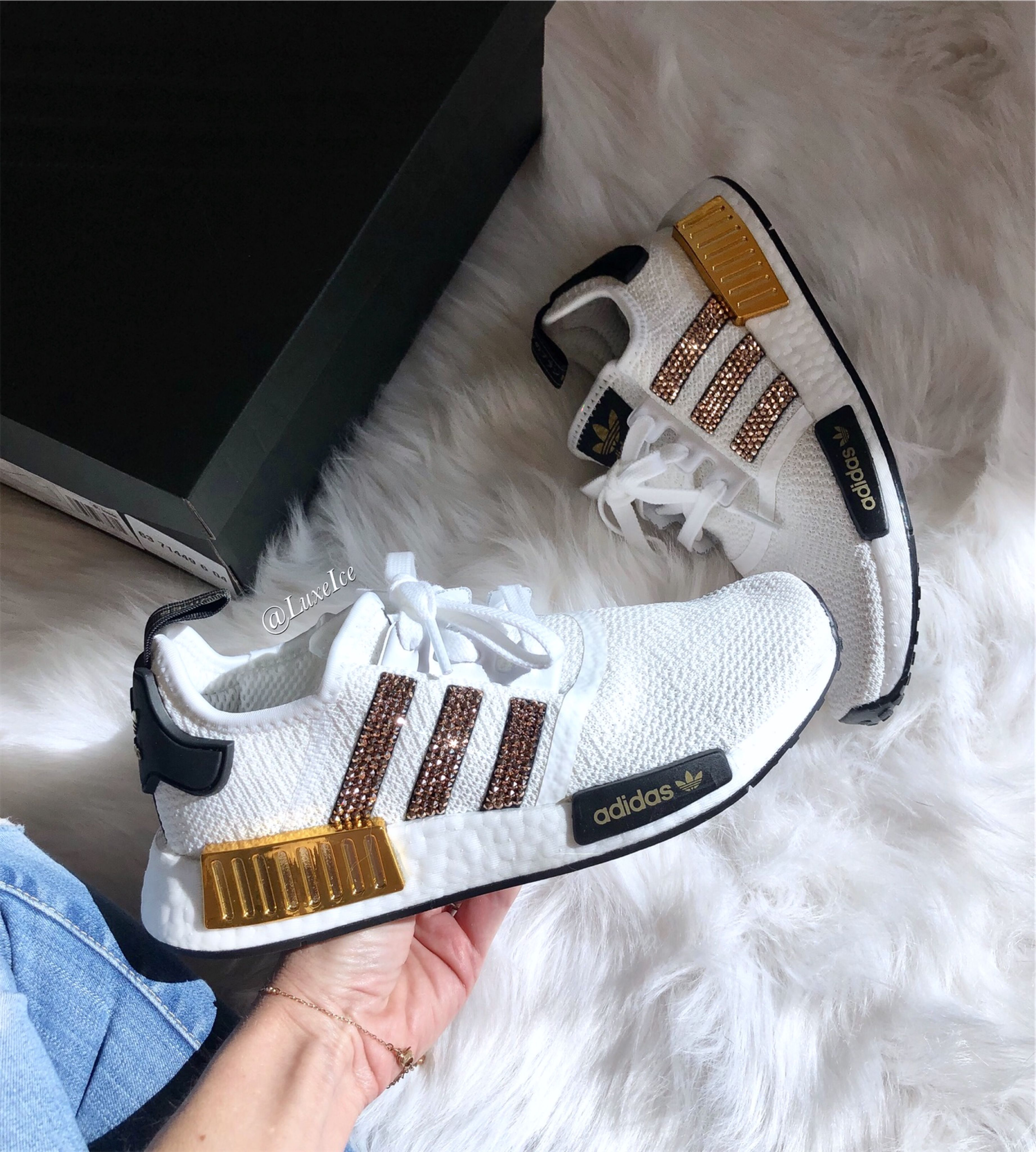 Adidas Nmd Workout Shoes Customized With Swarovski Crystals