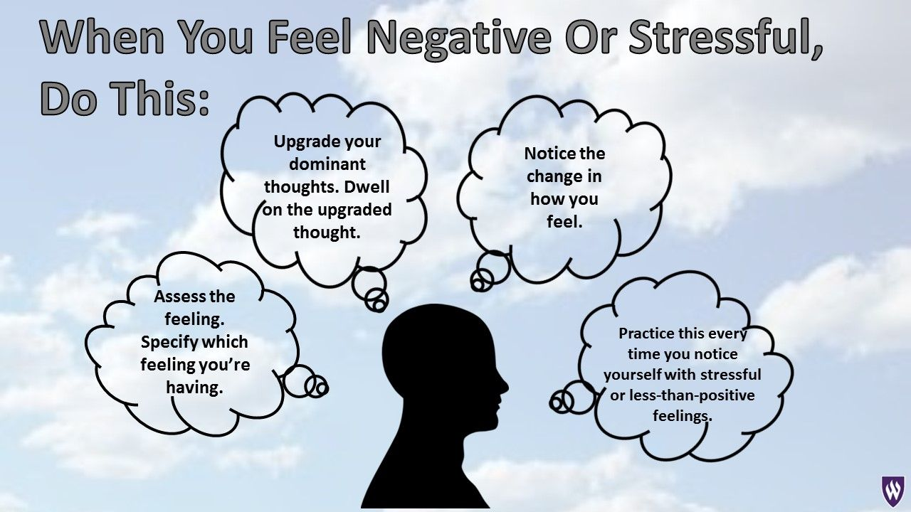 Many of our thoughts activate the stress response. How do