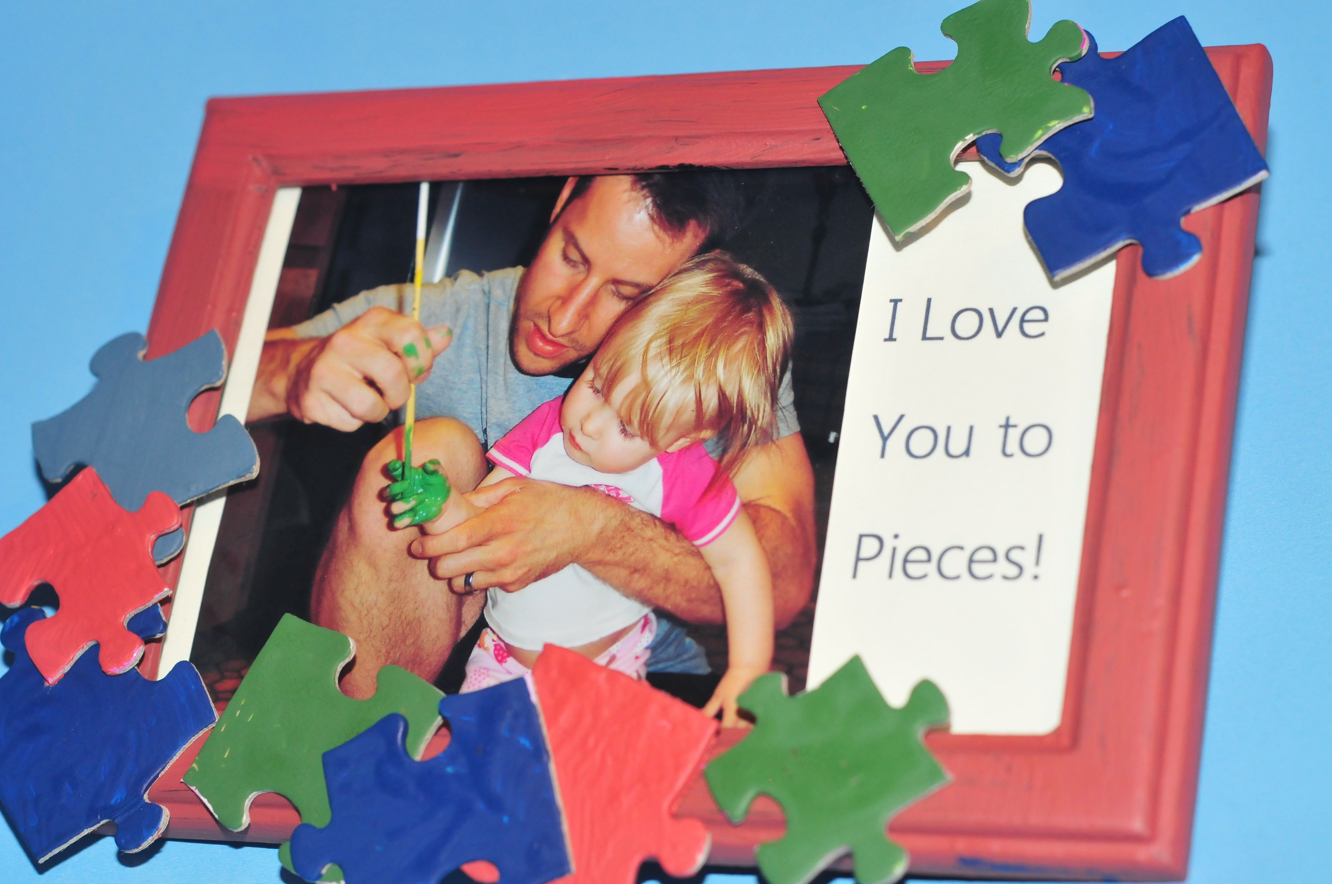Fathers day picture frame puzzle piece picture frame i love you fathers day picture frame puzzle piece picture frame i love you to pieces jeuxipadfo Images