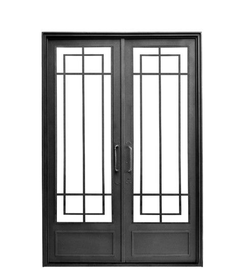 Puerta doble hoja recta ideas casa pinterest puertas dobles dobles y rejas - Puertas doble hoja ...
