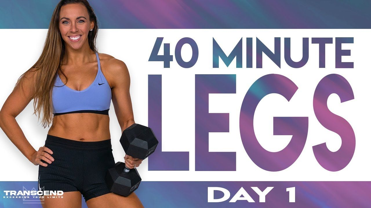 40 Minute Legs Level 1 Workout Transcend Day 1 Youtube In 2021 Legs Workout Leg Workout Workout
