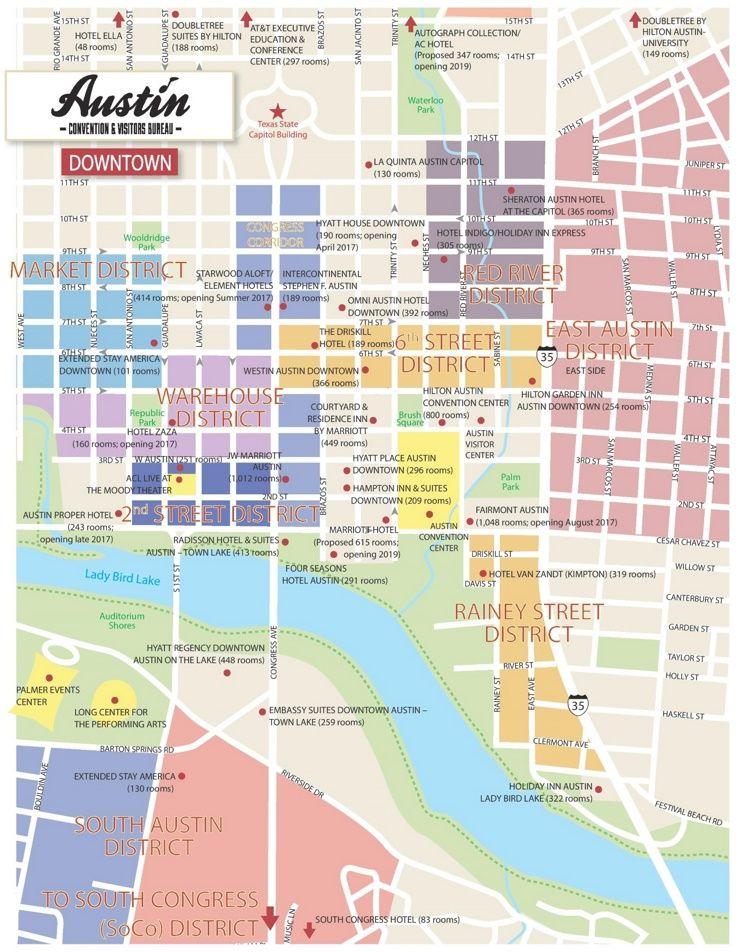 Austin Downtown Hotel Map