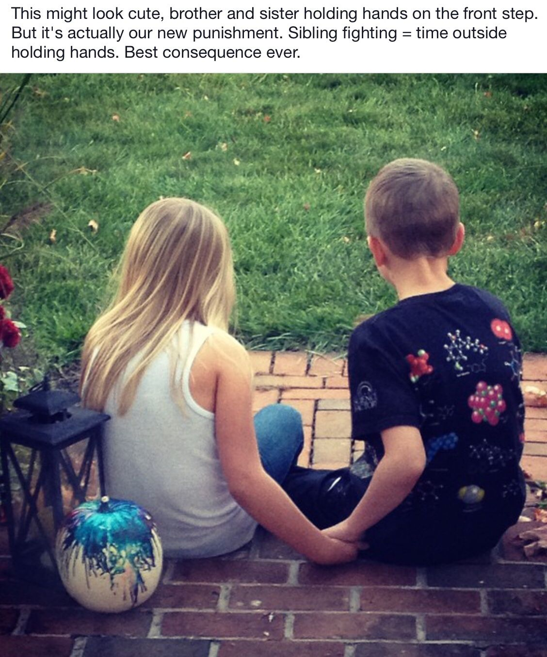Siblings Holding Hands As Punishment When They Argue Best