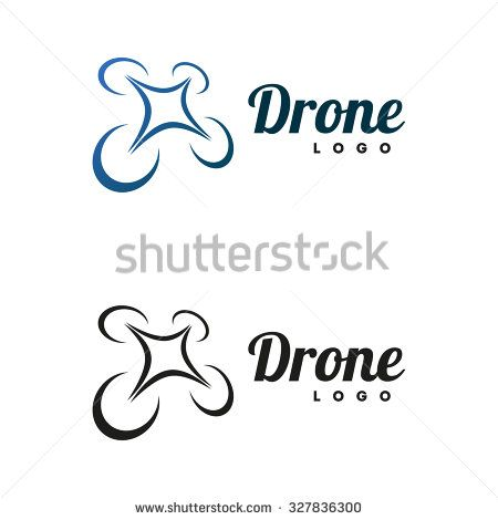 Drone logo isolated on white background - stock vector | drone ...