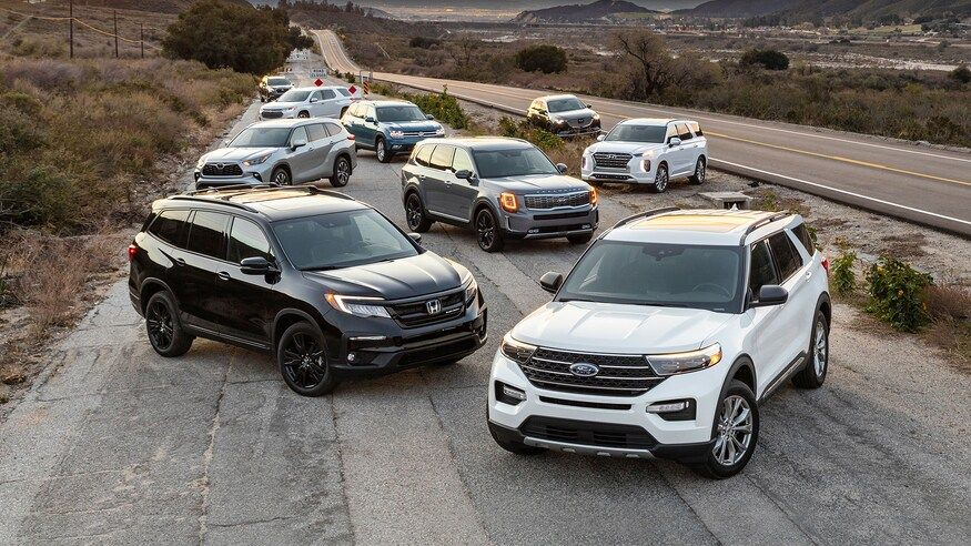 Kia Telluride vs. Toyota Highlander vs. Ford Explorer vs