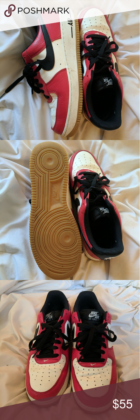 on sale c1a08 4bc86 Nike Air Force 1 Low Chicago Gum Sole Great condition, could be cleaned up  a bit. Men s 9.5, women s 11.5. Nike Shoes Sneakers