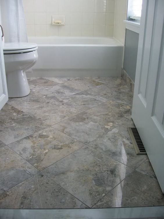Diagonal Floor Tiles Can Look Beautiful On A Kitchen Or Bathroom