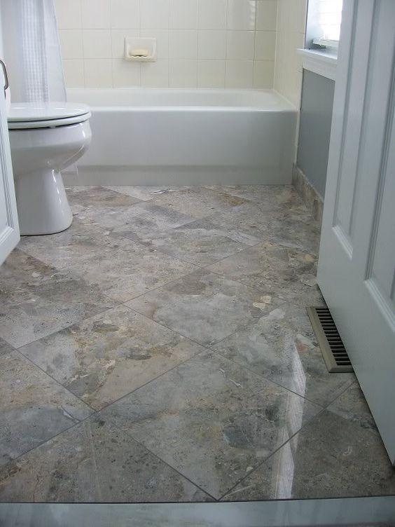 Diagonal Floor Tiles Can Look Beautiful On A Kitchen Or Bathroom Floor Tile Bathroom Small Bathroom Tiles Marble Tile Bathroom