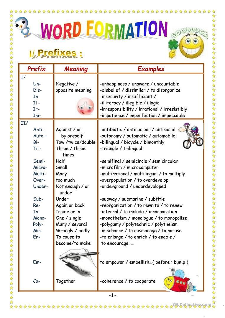 Prefixes And Suffixes Worksheet Free Esl Printable Worksheets Made By Teachers Prefixes And Suffixes Suffixes Worksheets Prefixes