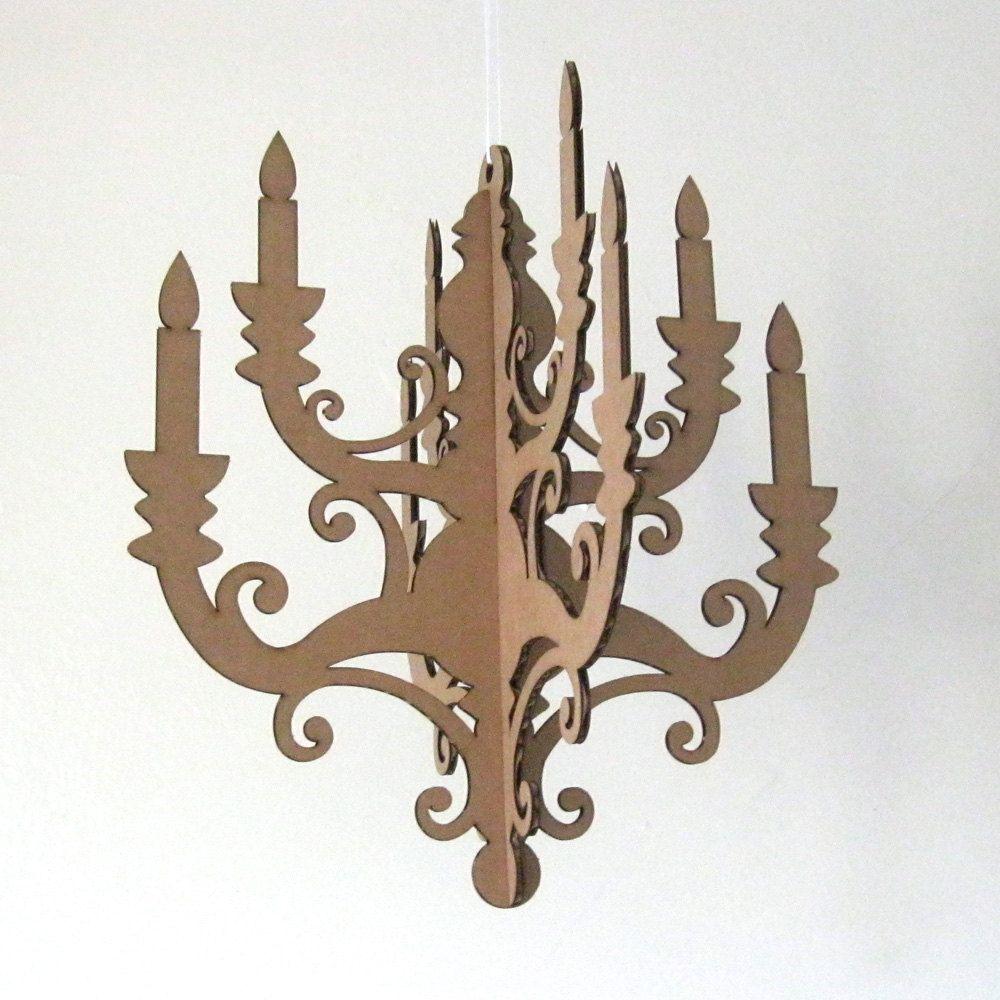 Mini chandelier laser cut cardboard diy 1000 via etsy mini chandelier cardboard chandelier paper chandelier chandelier cut out arubaitofo Choice Image