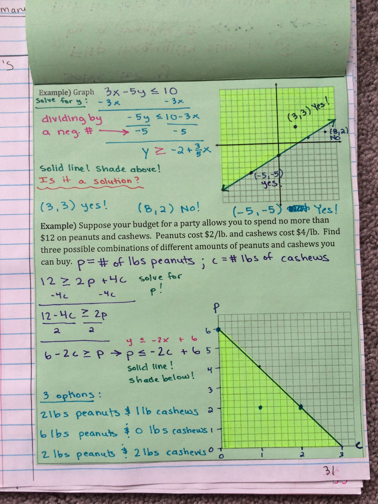 Systems Of Linear Equations And Inequalities Unit Interactive Notebook Pages Algebra 1 Math By The Mountai Interactive Notebooks Equations Linear Equations