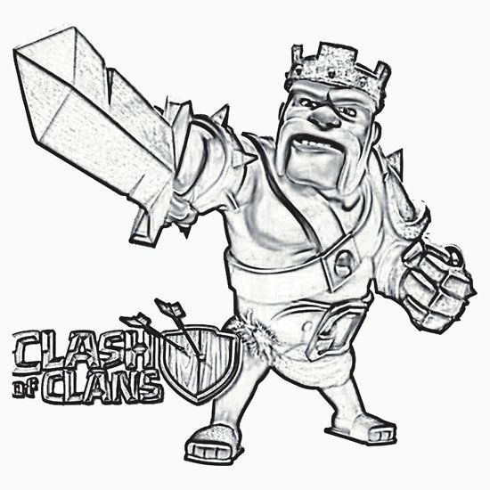 clash of clans  coloring pages  pinterest