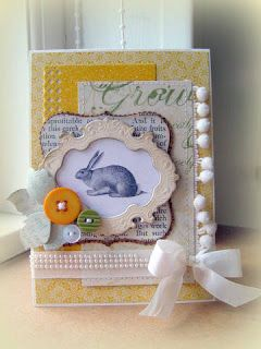 "card critters bunny rabbit bunnies easter spring Easter card #easter #Ostern ""påske bunny rabbit Hasen hare kanin Blomsterbox: Bunny card"