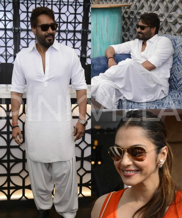 Spotted: Ajay Devgn and Isha Koppikar attend a launch event in the city!