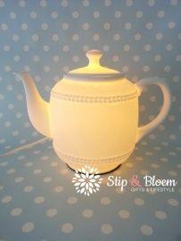"Clayre & Eef tafellamp ""Teapot"" 6LMP165 bij Stip & Bloem"