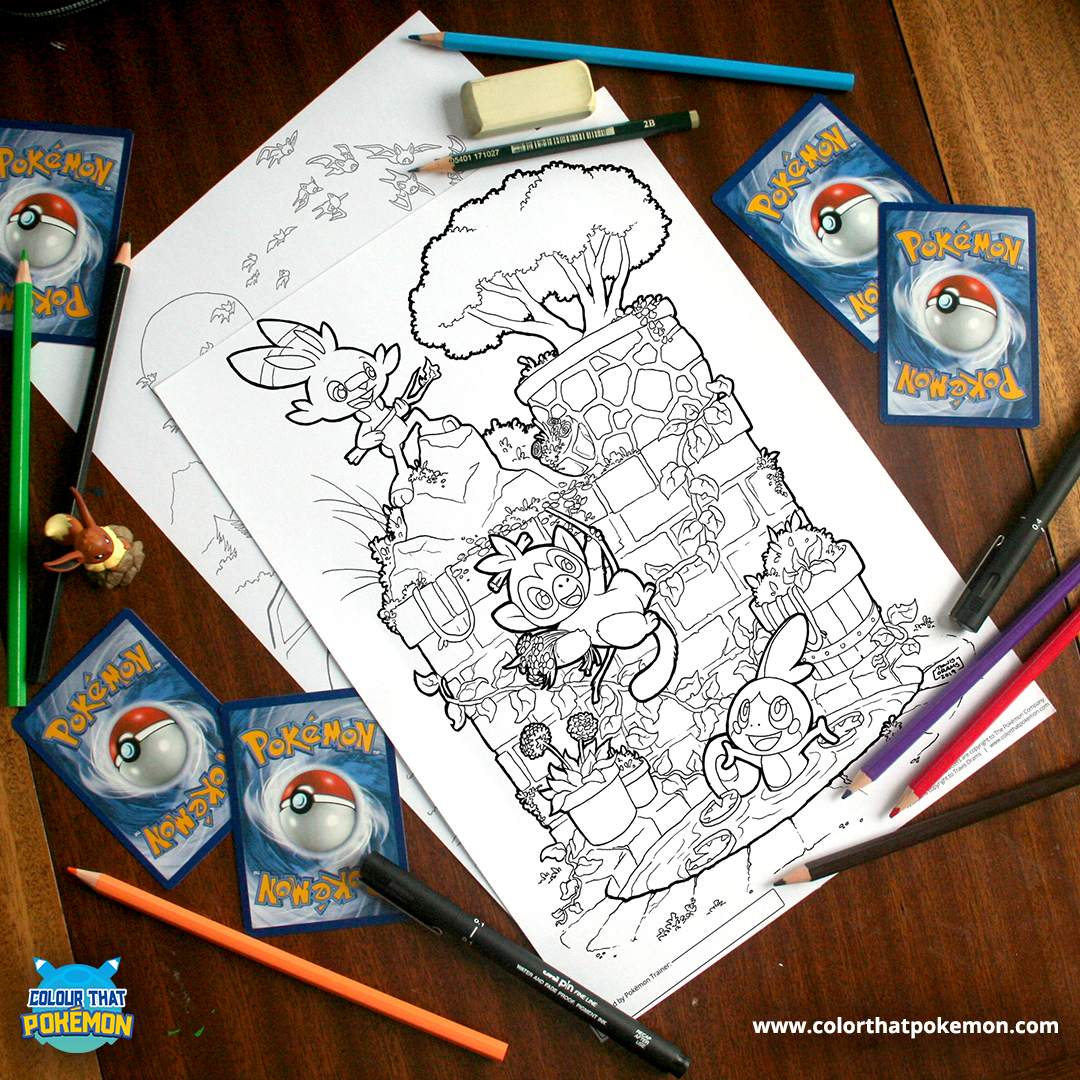A New Generation Scorbunny Grookey Sobble Pokemon Coloring Pages Pokemon Pokemon Coloring Pages Pokemon Coloring