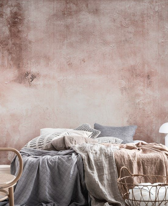 Best Concrete Rose Blush Terracotta Wall Mural Rose Gold 400 x 300