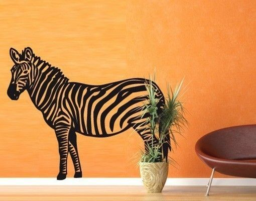 Wandtattoo Zebra #Wandgestaltung #Wandtattoo #Klebefieber