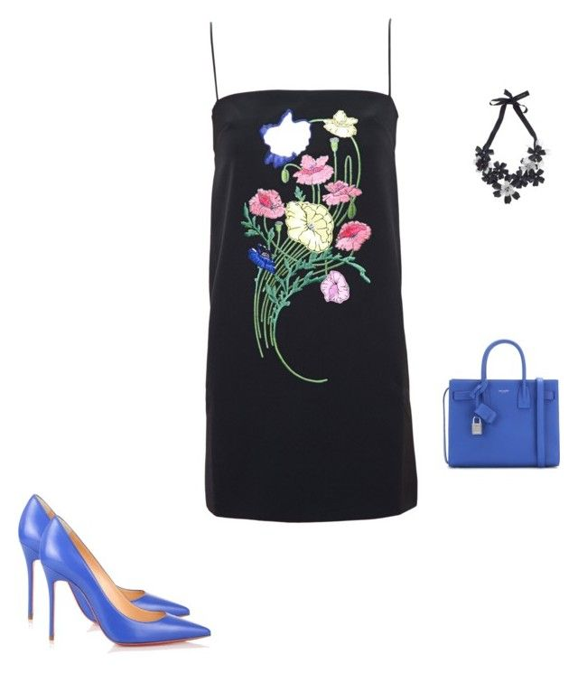 """Untitled #14418"" by explorer-14576312872 ❤ liked on Polyvore featuring Forest of Chintz, Christopher Kane, Yves Saint Laurent and Christian Louboutin"