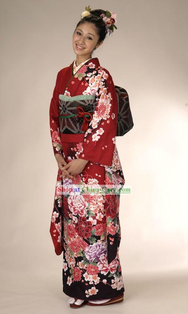 5b5415e5b026 Japanese Traditional Kimonos Women
