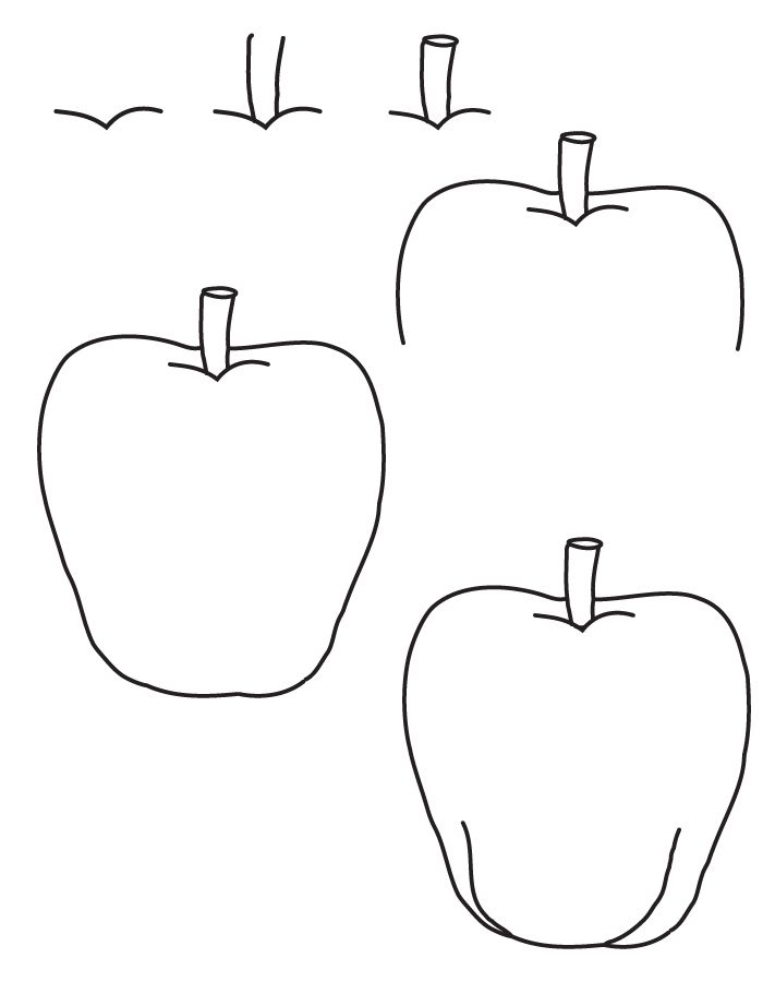 How to draw an apple learn how to draw an apple with for Easy drawing steps