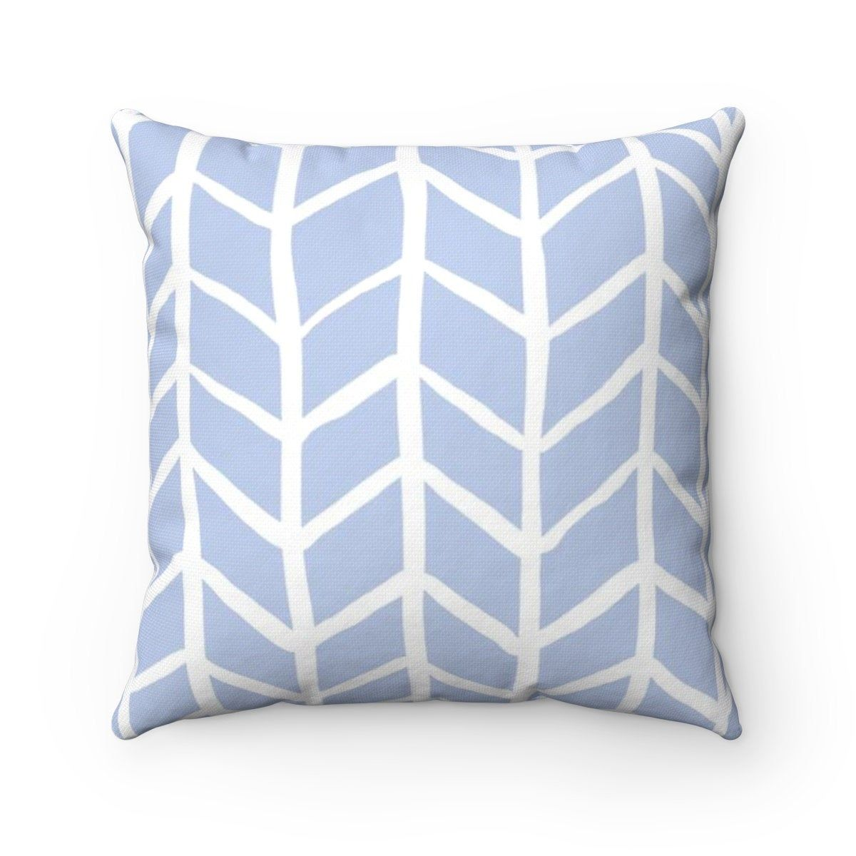 Outdoor Throw Pillow Periwinkle Blue Outdoor Pillow Periwinkle Herringbone Patio Cushion By Outdoor Throw Pillows Blue Outdoor Pillows Yellow Throw Pillows