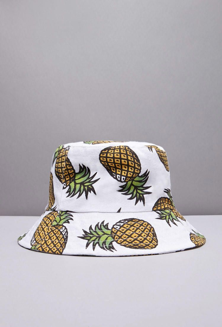 Pineapple Print Bucket Hat from Forever 21.  189d3b3d768