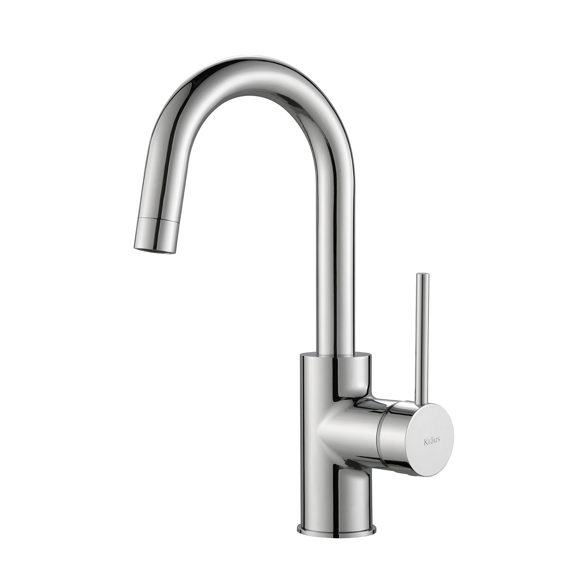 Kraus Oletto Single-Handle Kitchen Bar Faucet in Stainless Steel ...