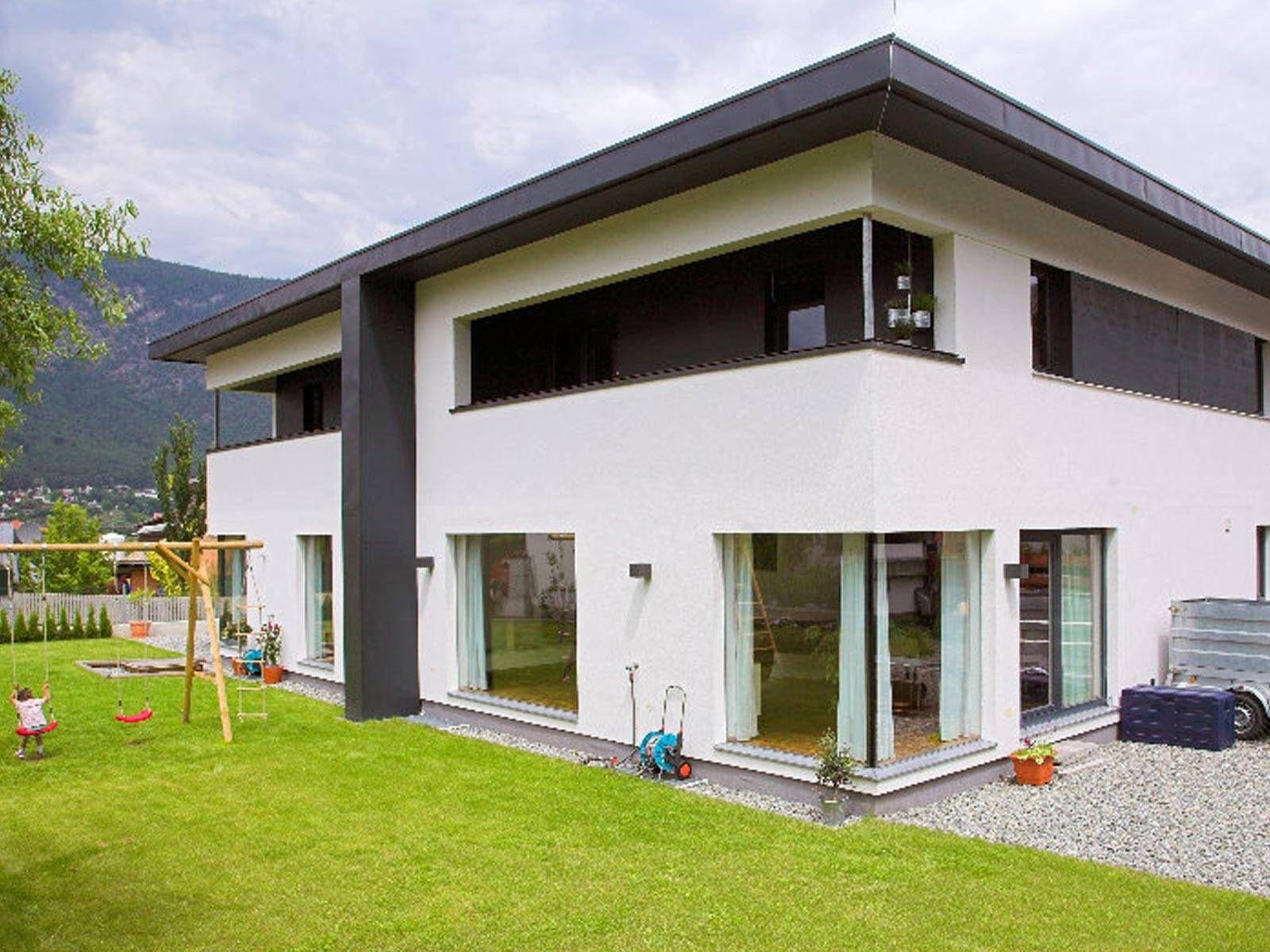 fassadengestaltung modern pultdach. Black Bedroom Furniture Sets. Home Design Ideas