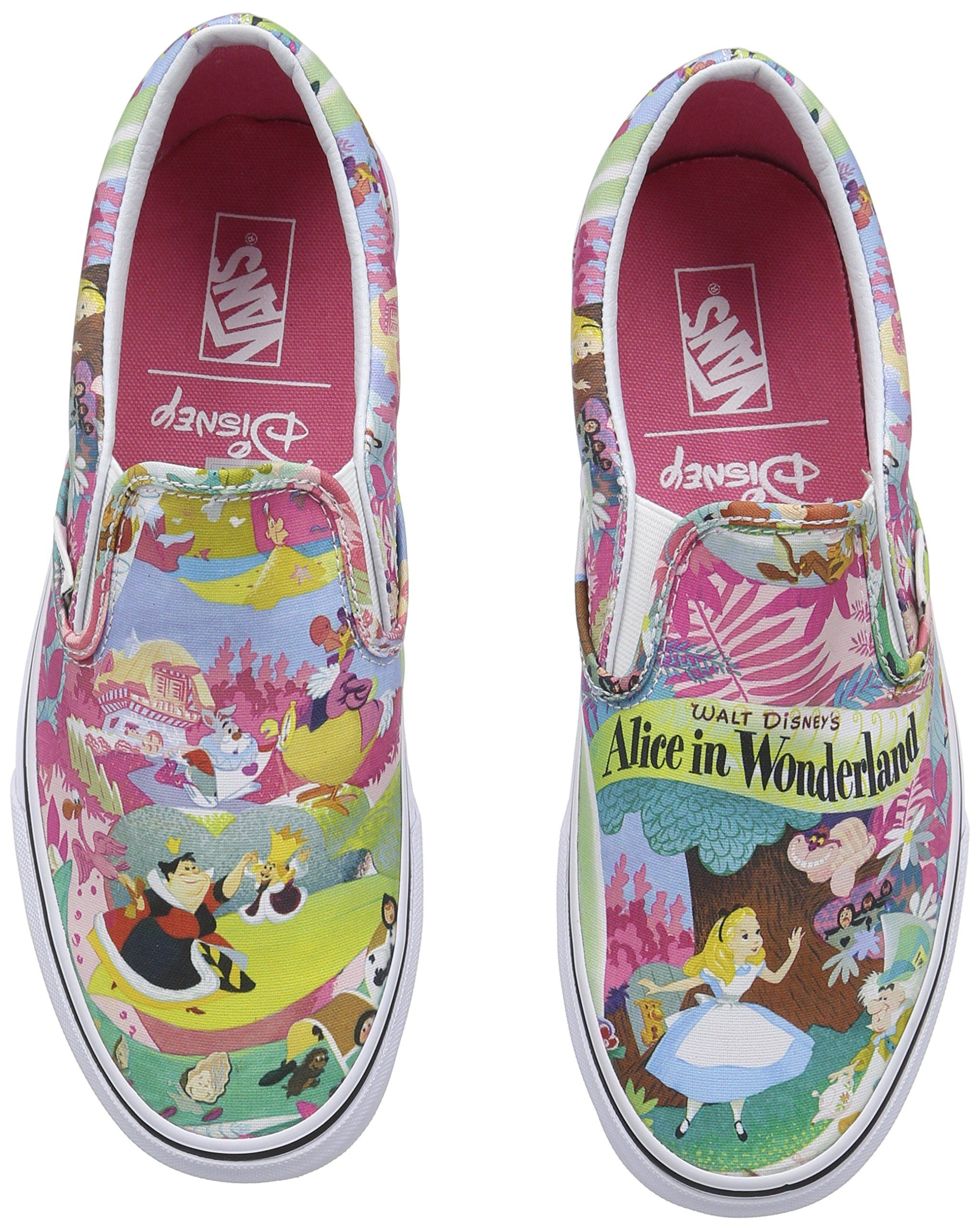 c52f18905f Vans (Disney) Shoes Alice in Wonderland Classic Slip On Pink Sneakers (4  Men  5.5 Women)