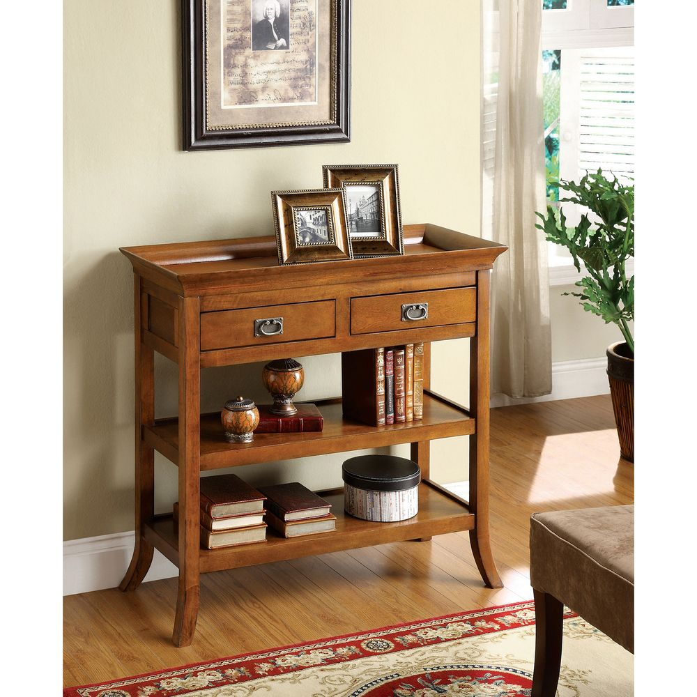 Furniture of america kams bottom trays 2 drawer end table furniture of america kams bottom trays 2 drawer end table overstock shopping geotapseo Images