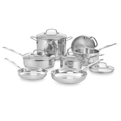 Cuisinart Chef S Classic Stainless Steel 11 Piece Cookware Set And Open Stock Bedbath Lista De Utensilios De Cozinha Utensilios De Cozinha Itens De Cozinha Cuisinart 11 piece cookware set