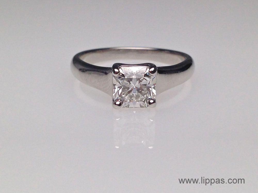 b5759fc8b Lippa's Estate and Fine Jewelry - Tiffany and Co. Platinum Lucida Cut  Diamond Solitare Ring., ...
