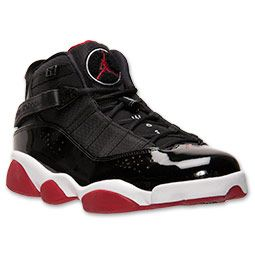 online store 7f180 03a3a Men s Jordan 6 Rings Basketball Shoes   FinishLine.com   Black White Gym  Red Anthracite