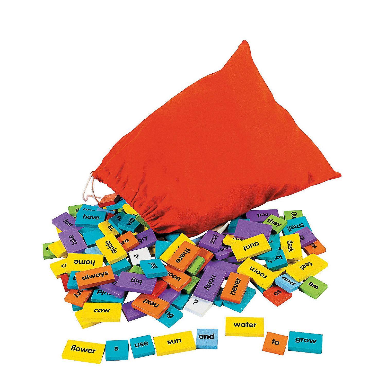 Sentence Building Domino Set