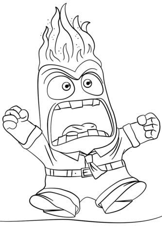 Inside Out Anger coloring page from Inside Out category