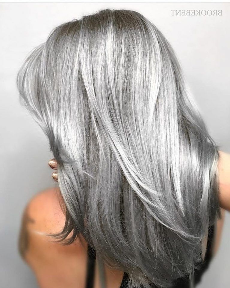40 Absolutely Stunning Silver Gray Hair Color Ideas Hair Colour Style Grey Hair Color Silver Silver Grey Hair Grey Hair Color