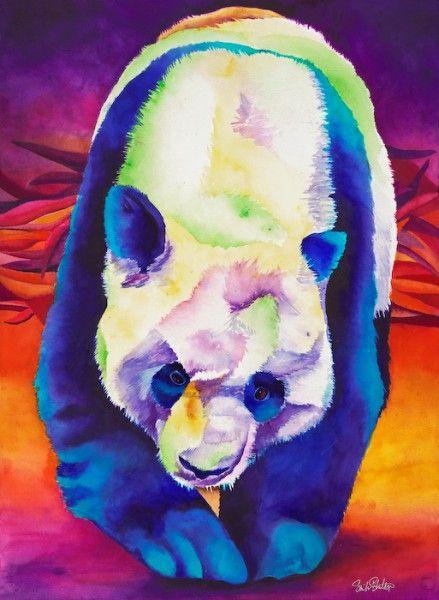Panda Stroll 30×22 Watercolor Roger 30×15 Giraffe Watercolor Sinclair Stratton