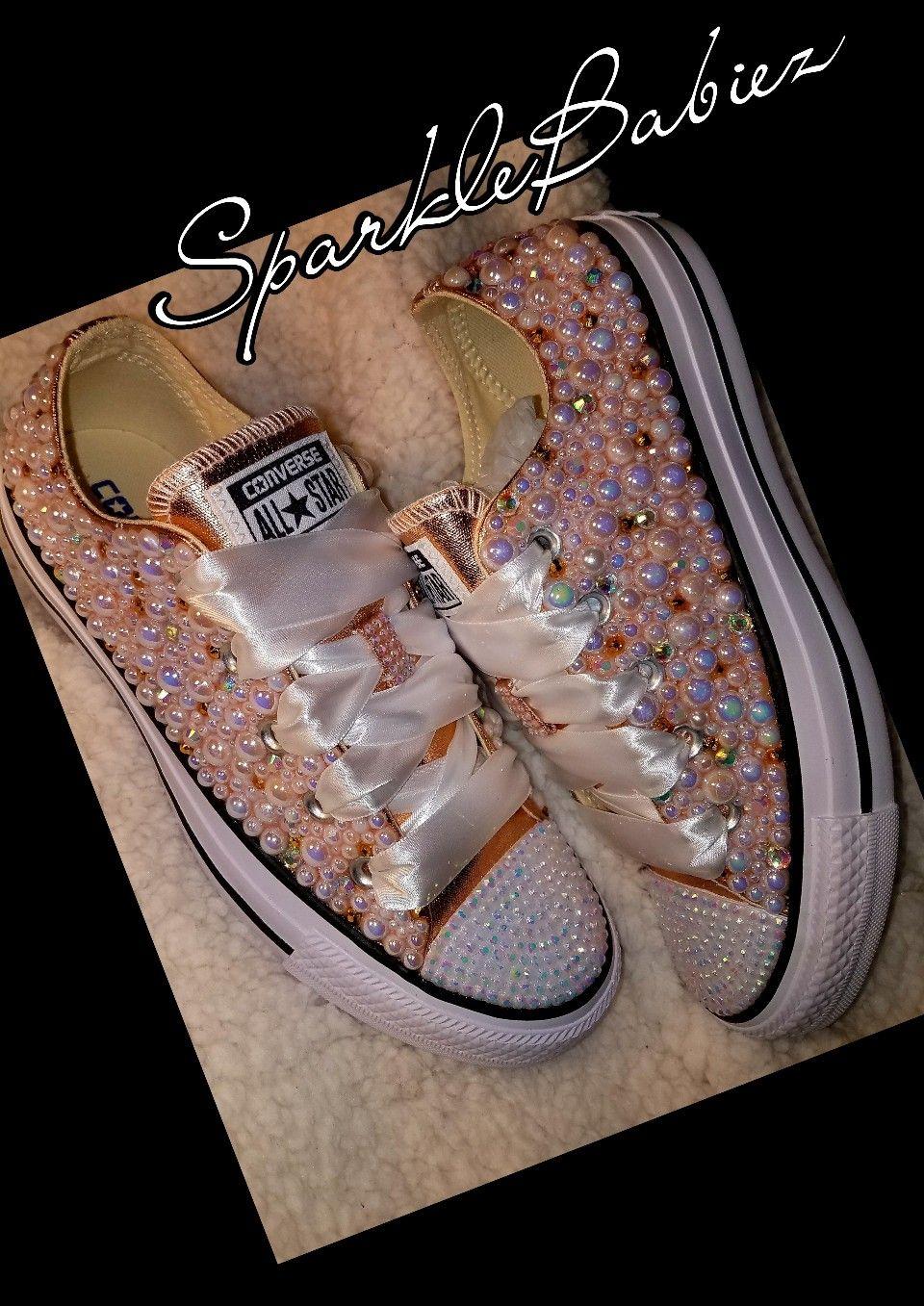 Custom Bling \u0026 Pearl Converse All Star