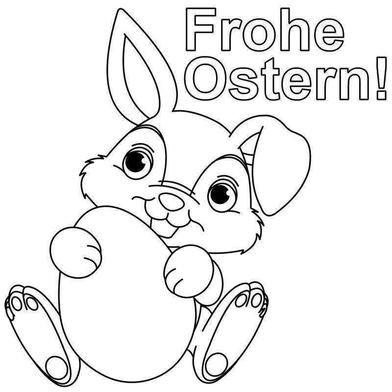 Hase Frohe Ostern 962 Malvorlage Ostern Ausmalbilder Kostenlos, Hase ...