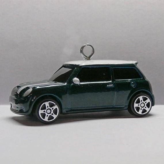 Austin Morris Green Mini Cooper Car Christmas Ornament Choose - Austin Morris Green Mini Cooper Car Christmas Ornament, Choose Your