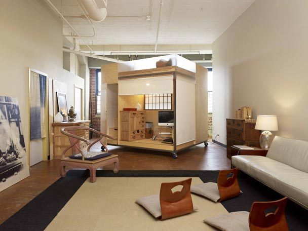 The Seattle Times: A Rolling Cube Adds Playful Living Space To A Loft
