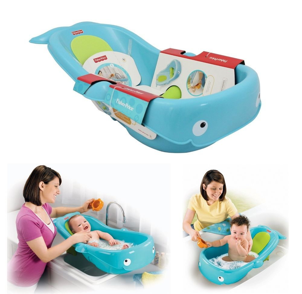 Fisher Price Baby Bath Tub Whale Infant Toddle Newborn Shower ...