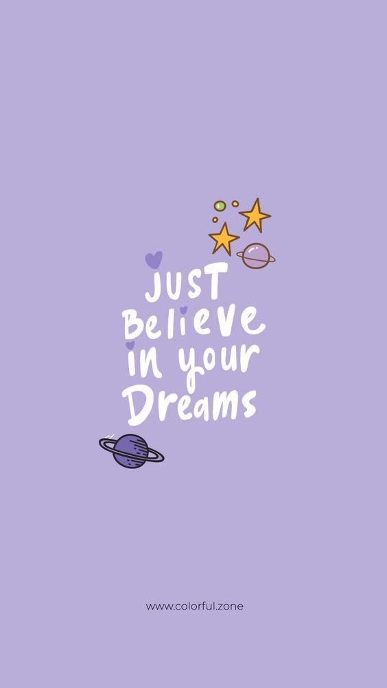 Just Believe In Your Dreams | Inspirational Quotes | Hannah Wills Art