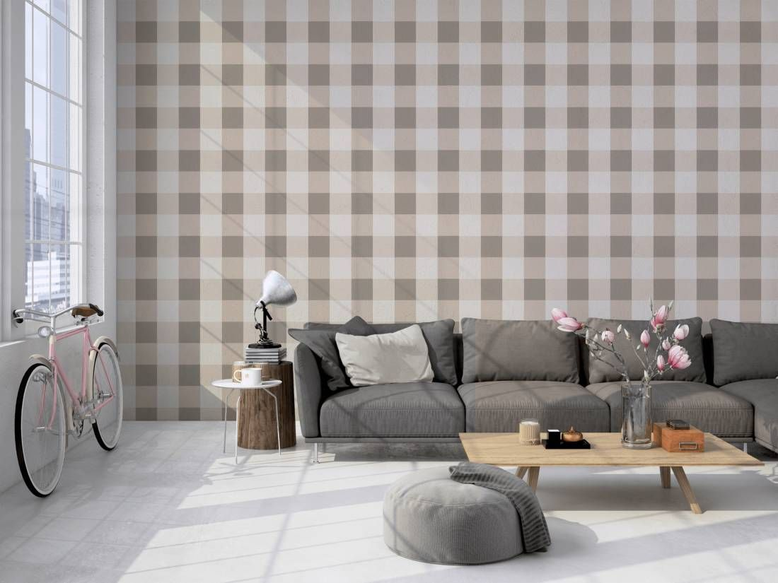 Tapety Tapeta Elegance 206336 Bezowa Kratka Krata Home Decor Decor Home